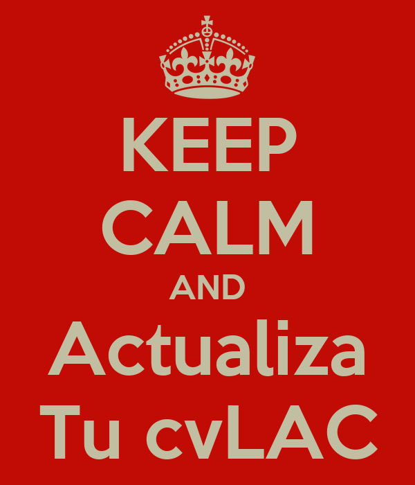 KEEP CALM AND Actualiza Tu cvLAC