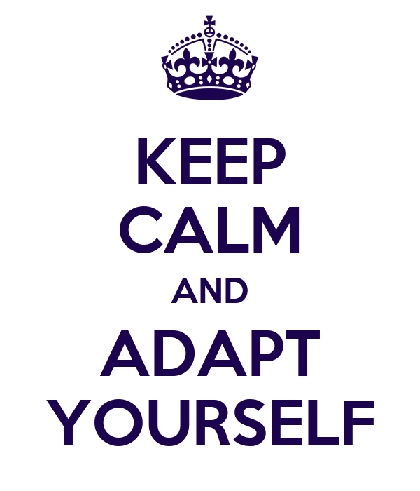 KEEP CALM AND ADAPT YOURSELF