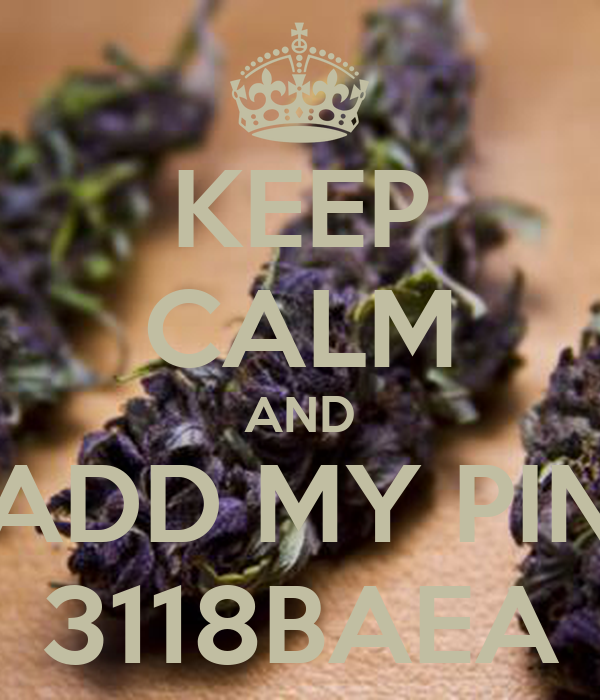 KEEP CALM AND ADD MY PIN 3118BAEA