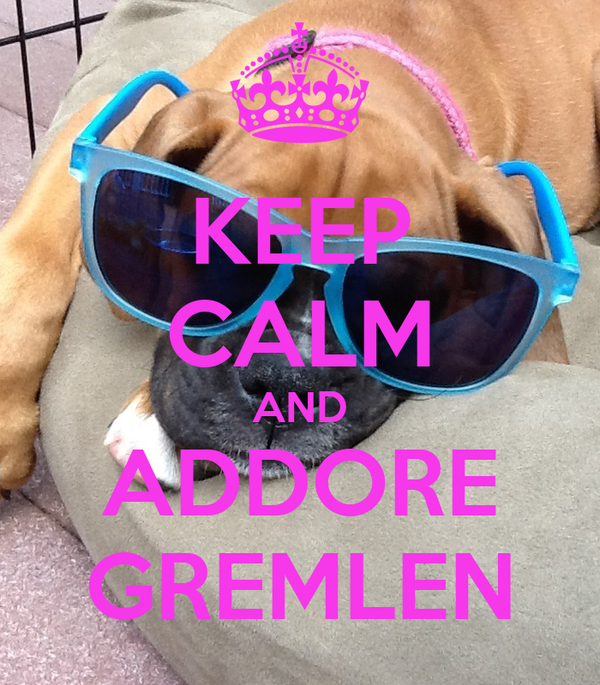 KEEP CALM AND ADDORE GREMLEN