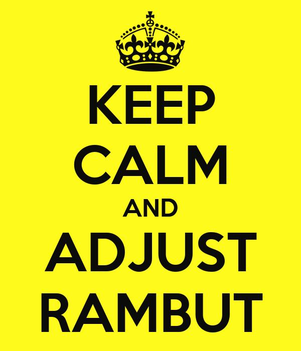 KEEP CALM AND ADJUST RAMBUT