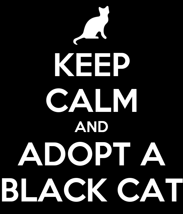KEEP CALM AND ADOPT A BLACK CAT