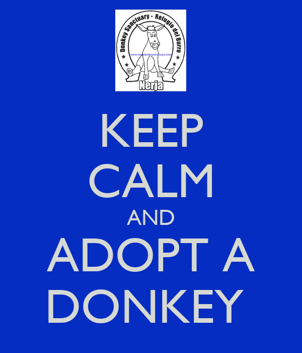 KEEP CALM AND ADOPT A DONKEY
