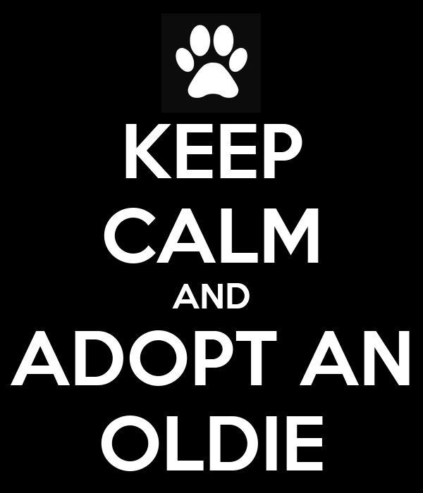 KEEP CALM AND ADOPT AN OLDIE