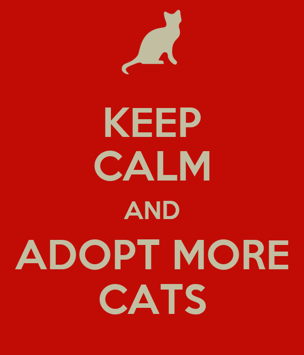 KEEP CALM AND ADOPT MORE CATS