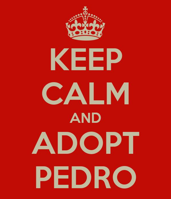 KEEP CALM AND ADOPT PEDRO