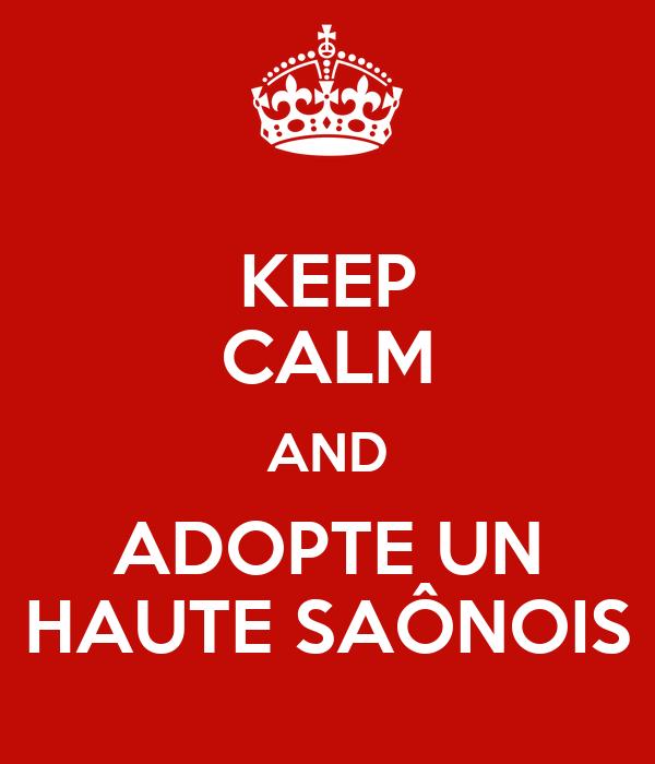 KEEP CALM AND ADOPTE UN HAUTE SAÔNOIS