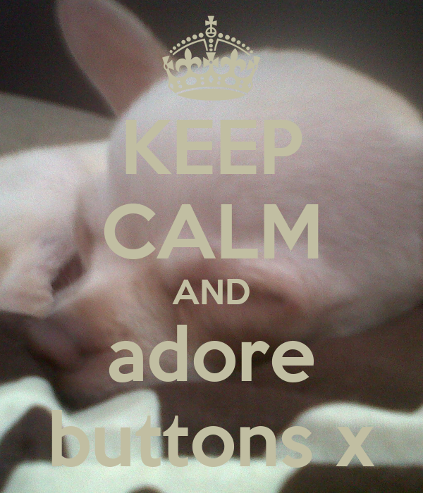 KEEP CALM AND adore buttons x