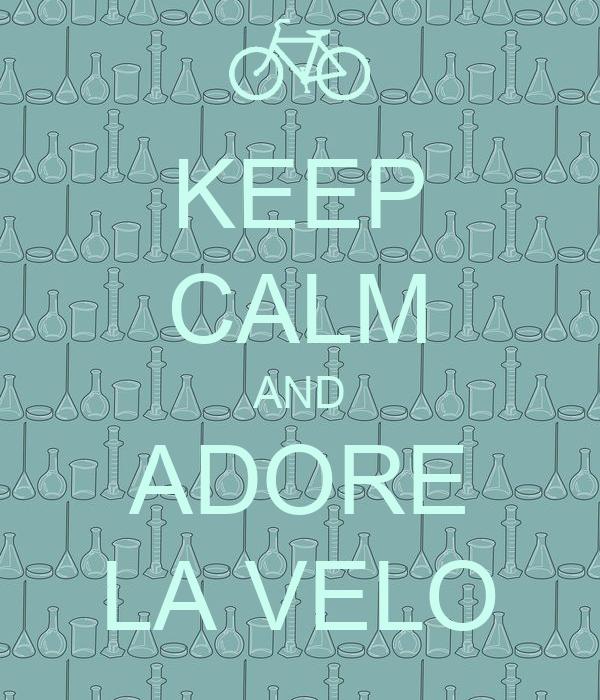 KEEP CALM AND ADORE LA VELO