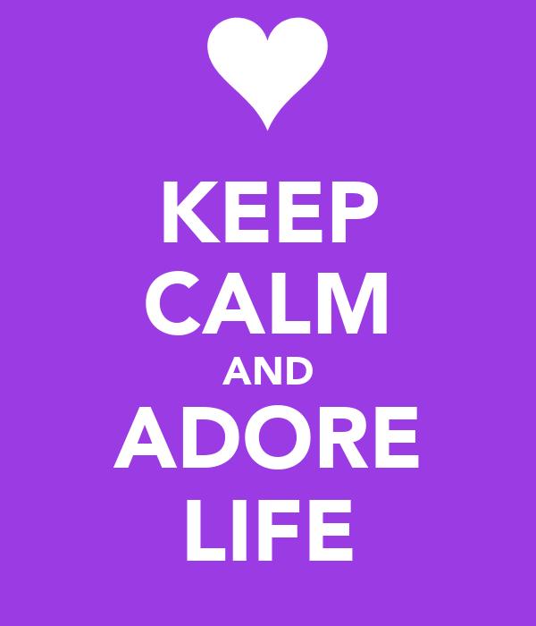 KEEP CALM AND ADORE LIFE