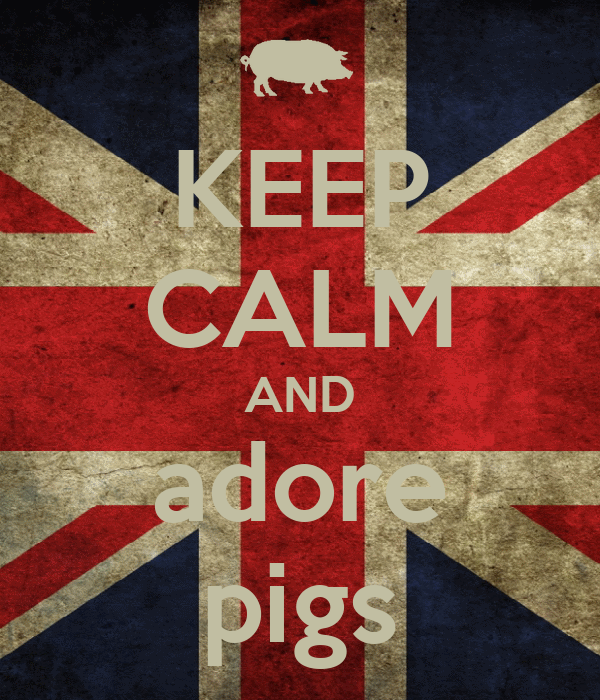 KEEP CALM AND adore pigs