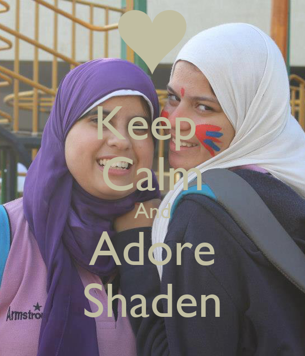 Keep  Calm And Adore Shaden