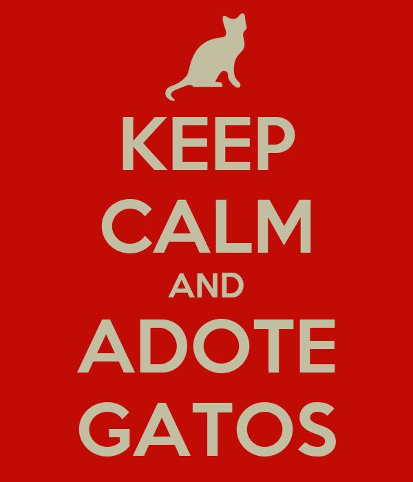 KEEP CALM AND ADOTE GATOS