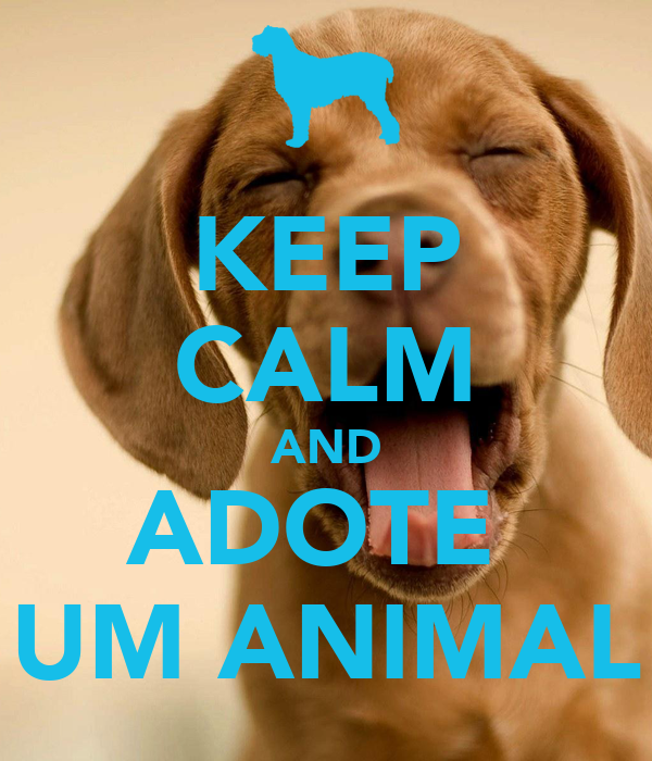 KEEP CALM AND ADOTE  UM ANIMAL
