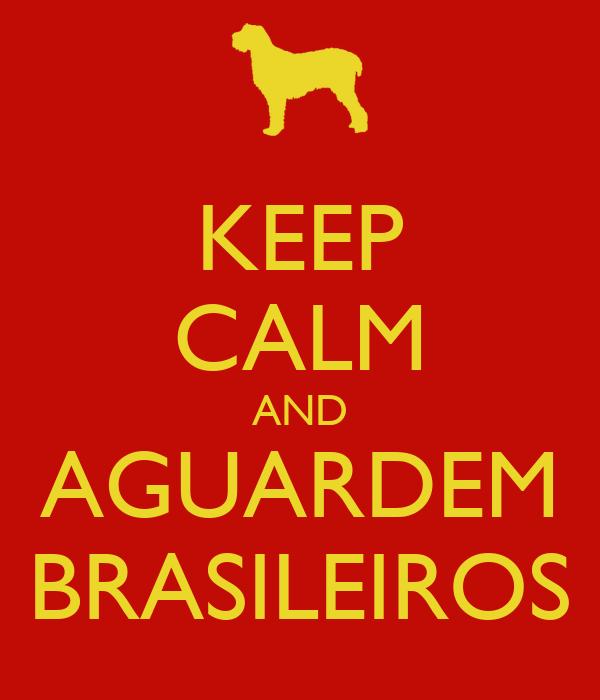 KEEP CALM AND AGUARDEM BRASILEIROS