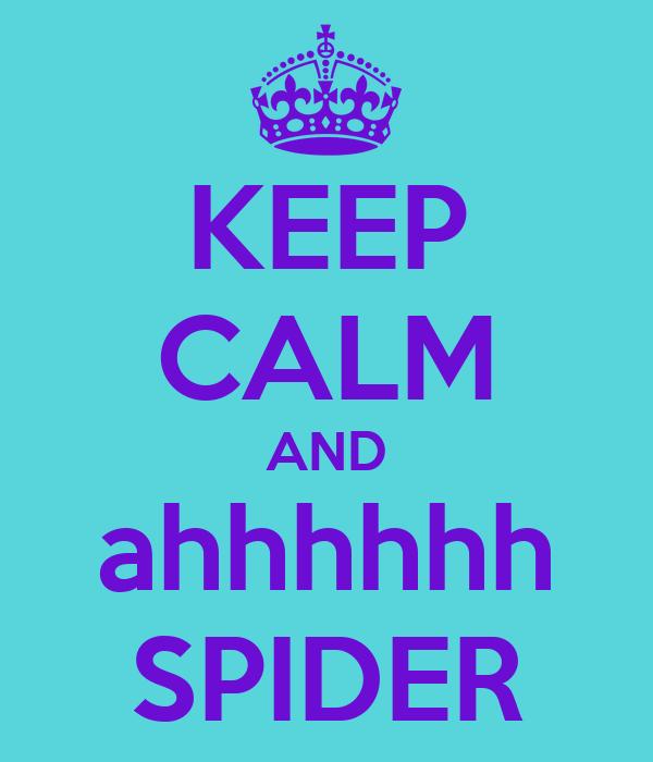 KEEP CALM AND ahhhhhh SPIDER