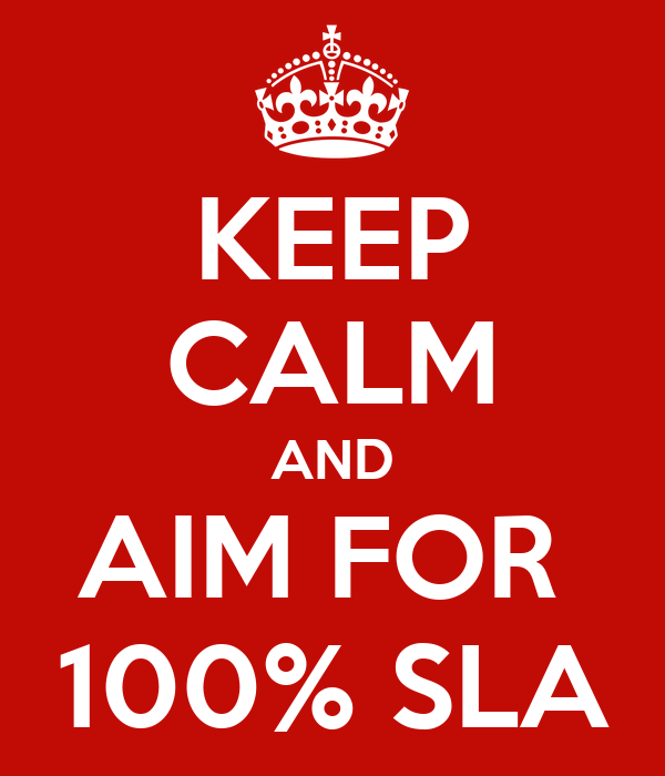 KEEP CALM AND AIM FOR  100% SLA