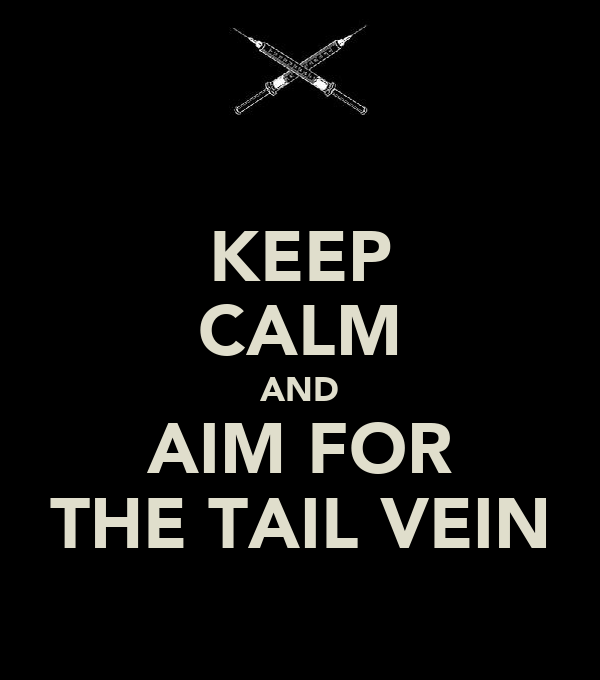 KEEP CALM AND AIM FOR THE TAIL VEIN