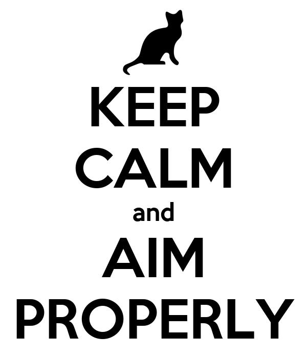 KEEP CALM and AIM PROPERLY