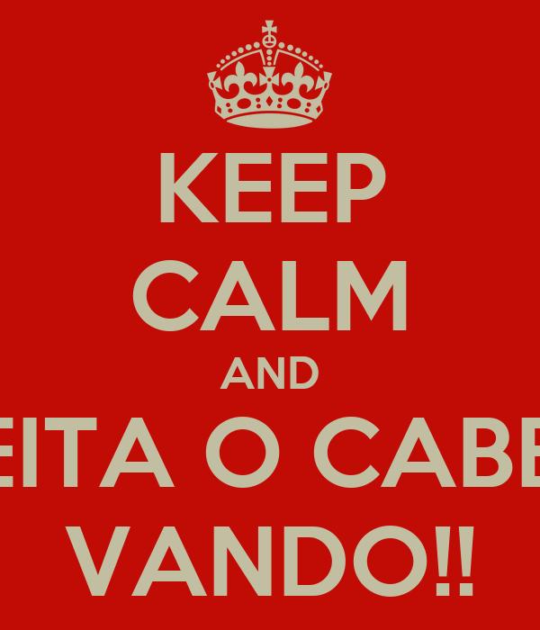 KEEP CALM AND AJEITA O CABELO VANDO!!