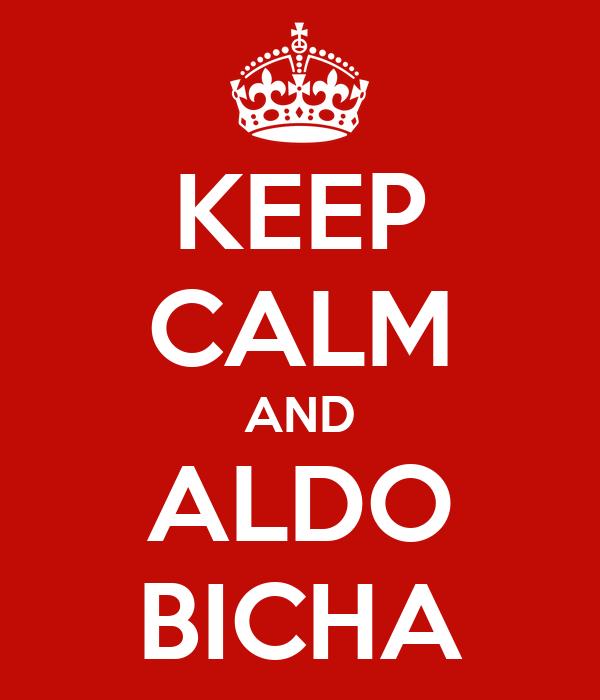 KEEP CALM AND ALDO BICHA