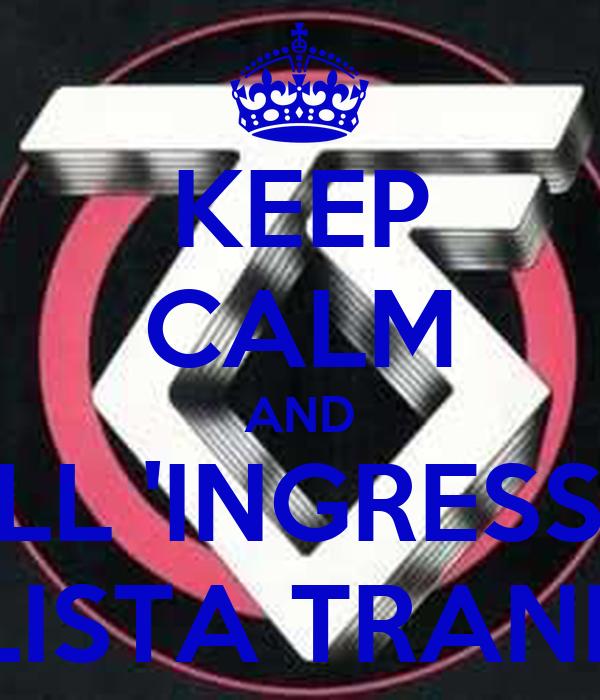KEEP CALM AND ALL 'INGRESSO LISTA TRANI