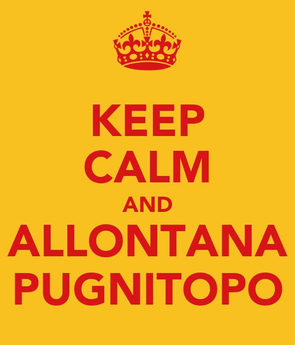 KEEP CALM AND ALLONTANA PUGNITOPO