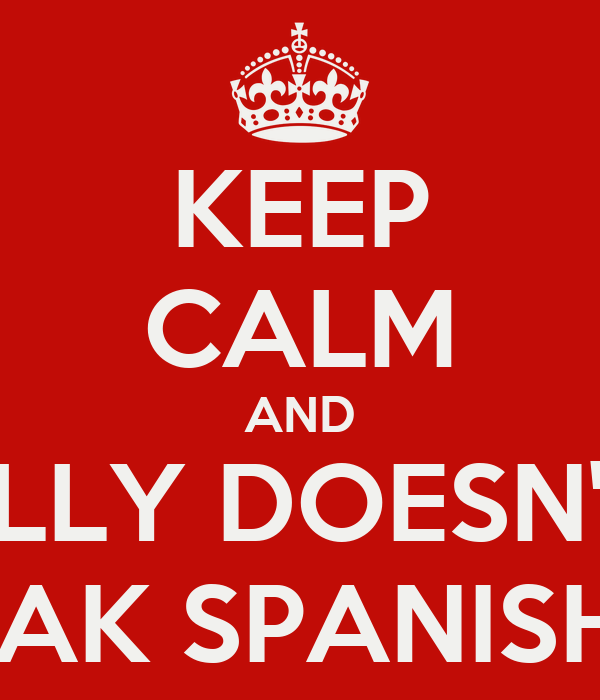 KEEP CALM AND ALLY DOESN'T  SPEAK SPANISH¿¿¿
