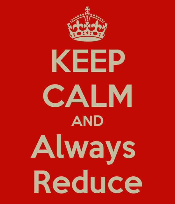 KEEP CALM AND Always  Reduce
