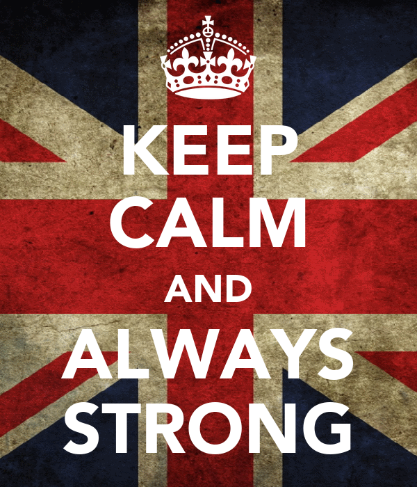 KEEP CALM AND ALWAYS STRONG