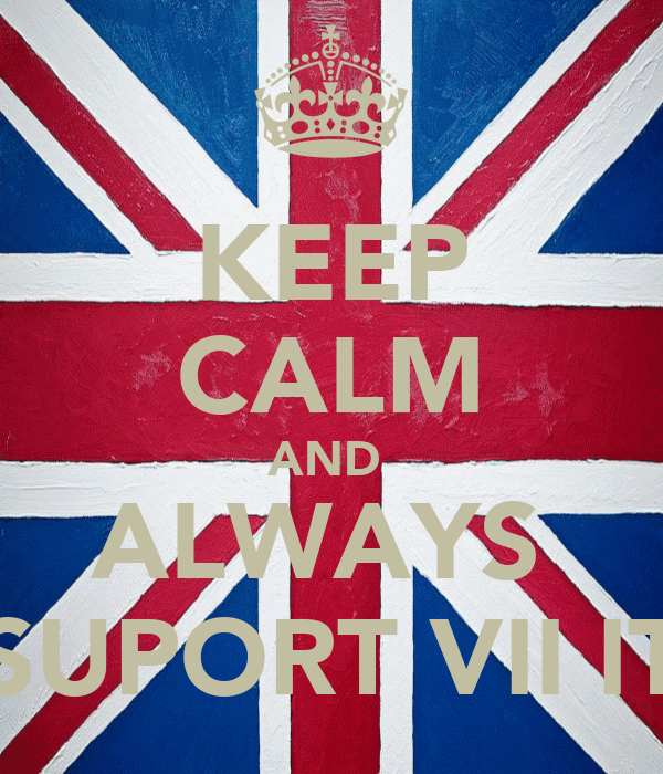 KEEP CALM AND  ALWAYS  SUPORT VII IT