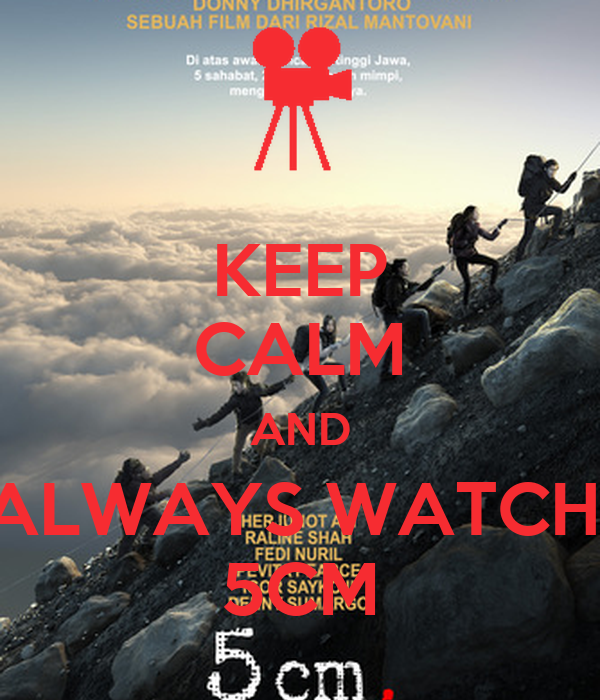 KEEP CALM AND ALWAYS WATCH  5CM