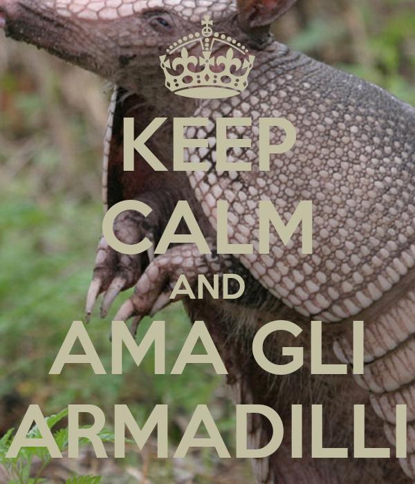 KEEP CALM AND AMA GLI ARMADILLI