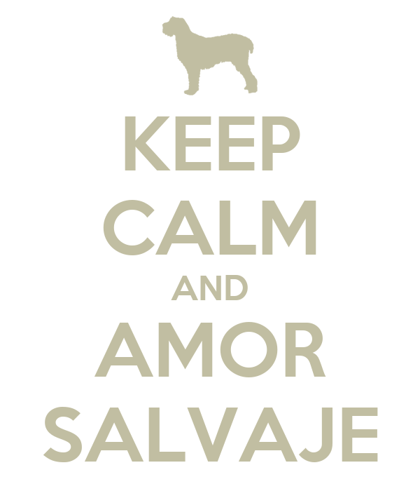 KEEP CALM AND AMOR SALVAJE