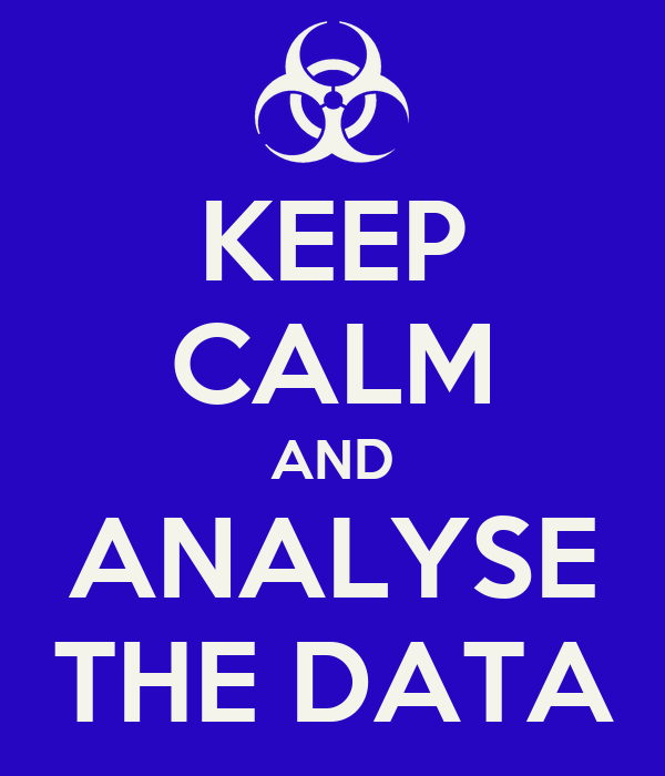 KEEP CALM AND ANALYSE THE DATA