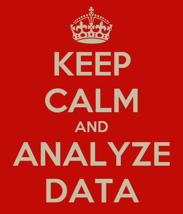 KEEP CALM AND ANALYZE DATA