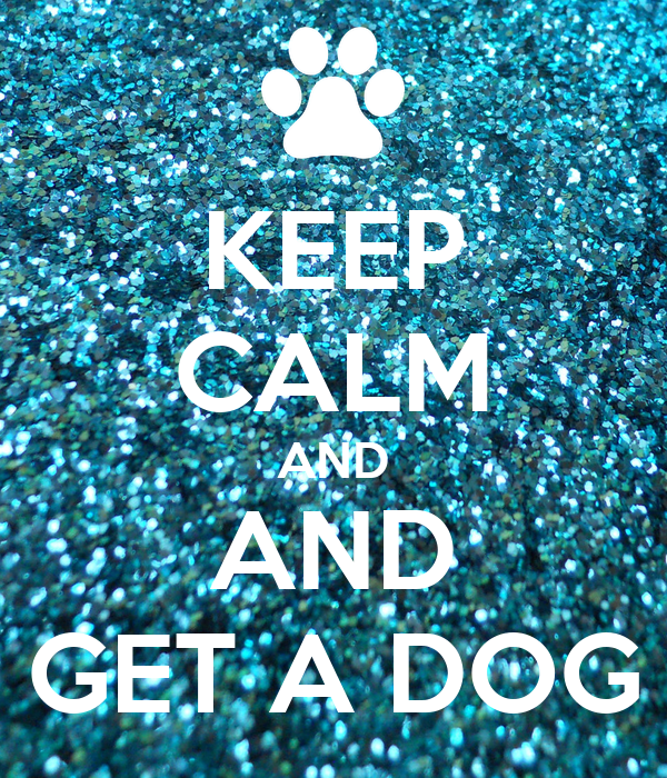 KEEP CALM AND AND GET A DOG