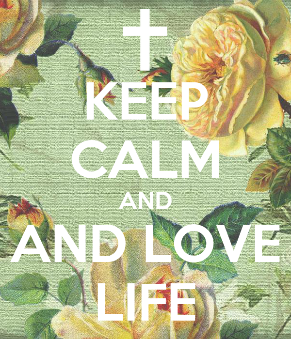 KEEP CALM AND AND LOVE LIFE
