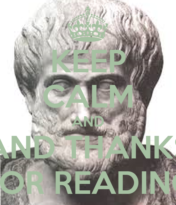 KEEP CALM AND AND THANKS FOR READING