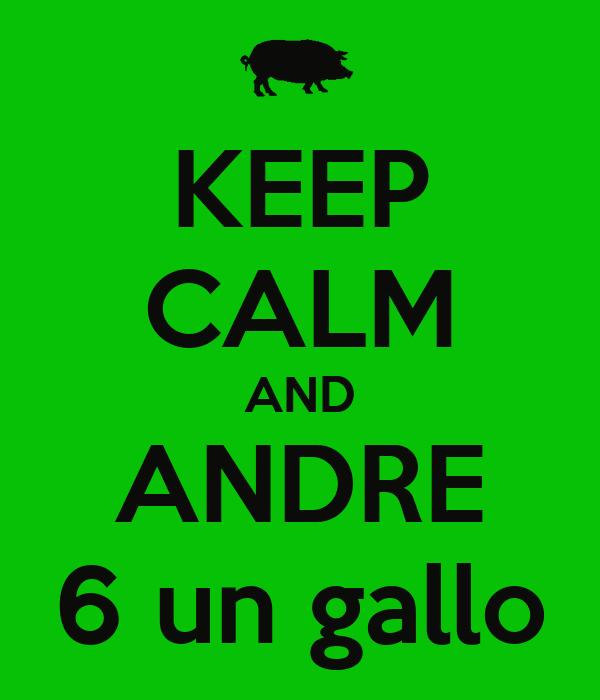 KEEP CALM AND ANDRE 6 un gallo