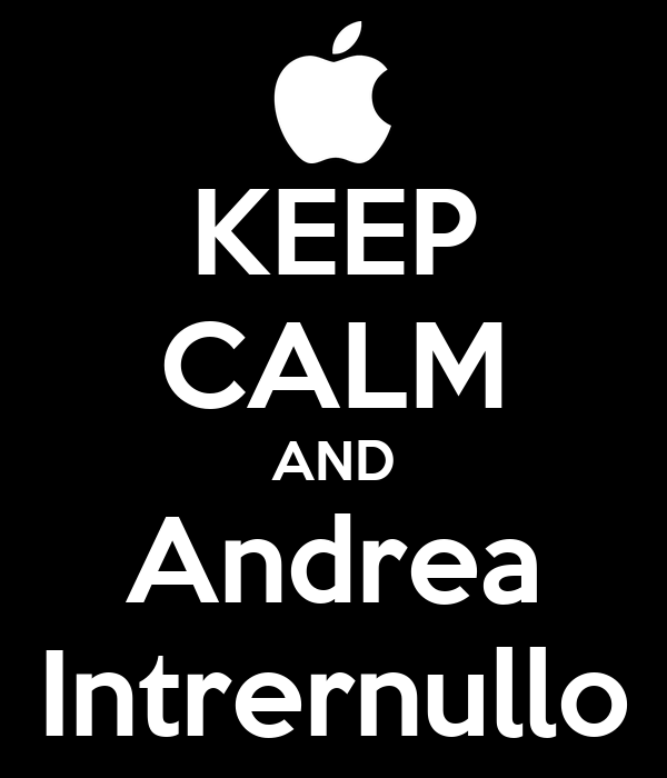 KEEP CALM AND Andrea Intrernullo