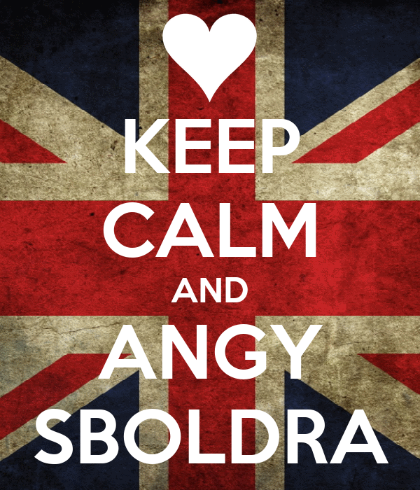 KEEP CALM AND ANGY SBOLDRA
