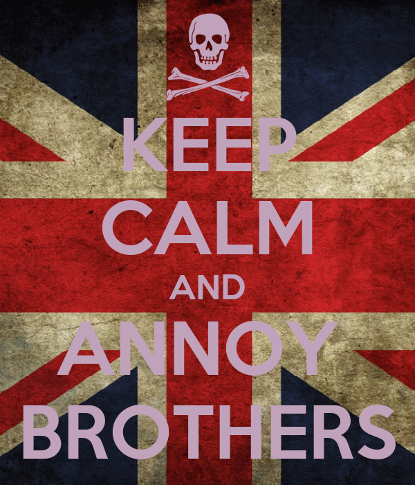 KEEP CALM AND ANNOY  BROTHERS