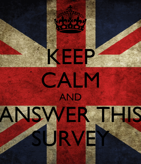 KEEP CALM AND ANSWER THIS SURVEY
