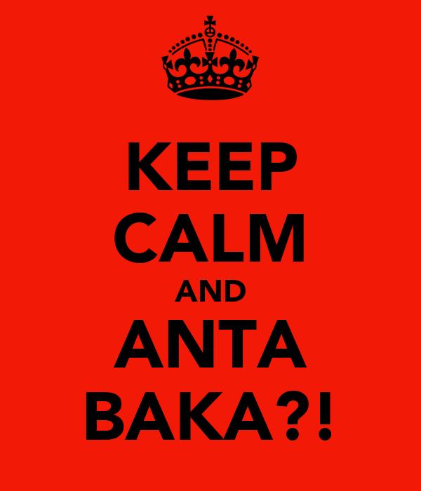 KEEP CALM AND ANTA BAKA?!