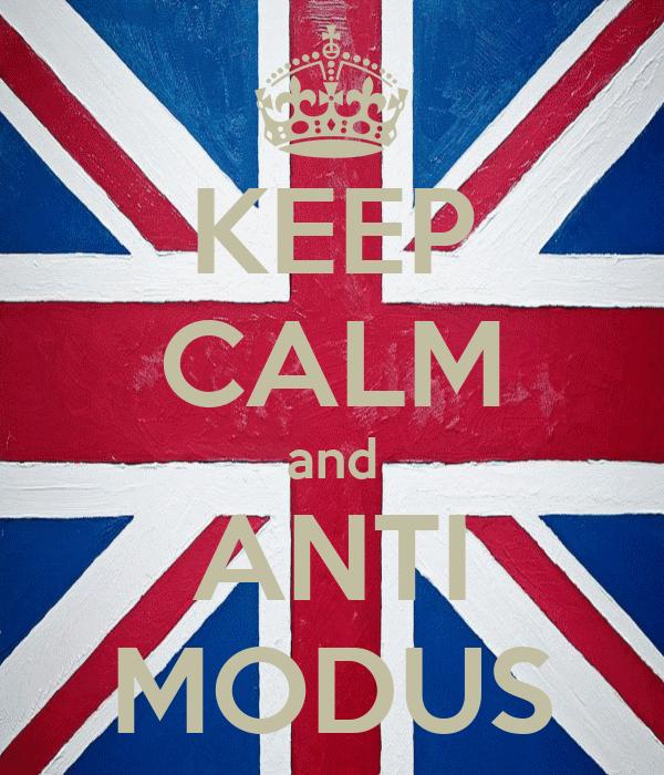 KEEP CALM and ANTI MODUS