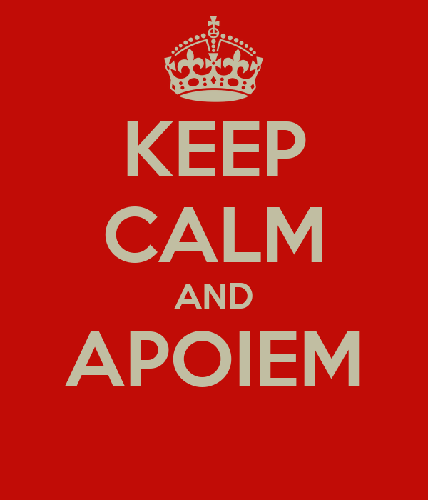 KEEP CALM AND APOIEM