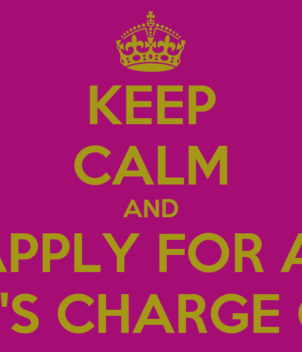 KEEP CALM AND APPLY FOR A  KOHL'S CHARGE CARD