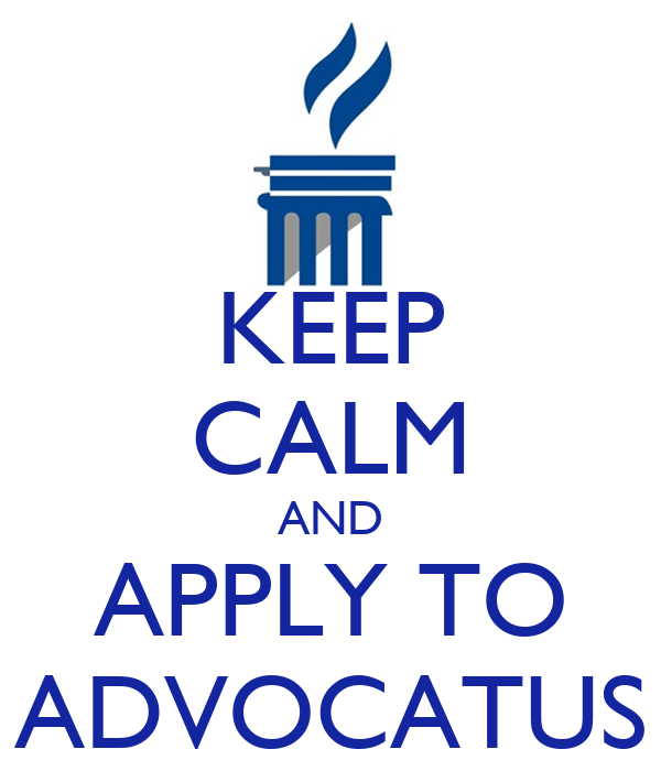 KEEP CALM AND APPLY TO ADVOCATUS