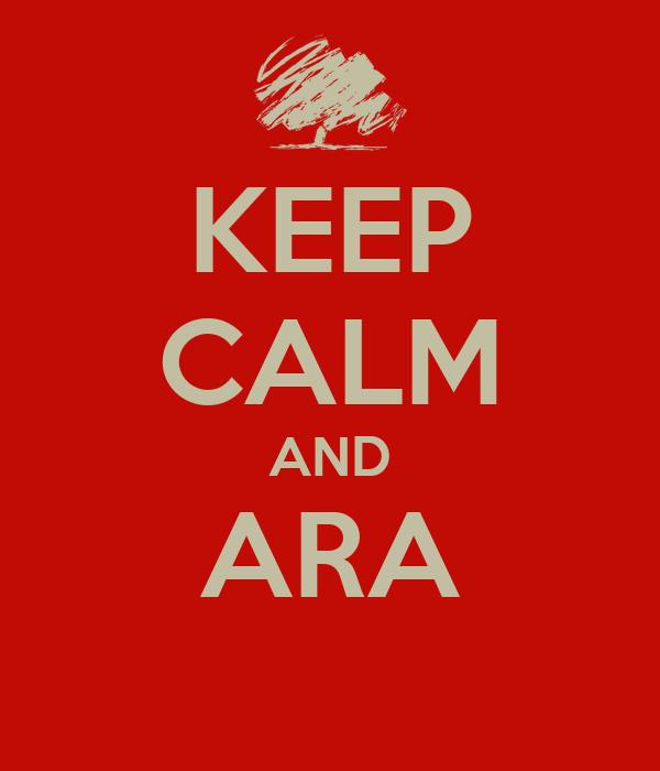 KEEP CALM AND ARA